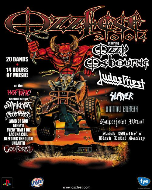 A Journey Through Ozzfest 2004….